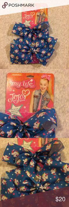 "JOJO SIWA My Life Blue Unicorn Girl Doll Bow Set JOJO SIWA My Life as JoJo Siwa Blue Unicorn Girl & 18"" Doll Matching Bow Set New with Tags JoJo Siwa Accessories Hair Accessories"