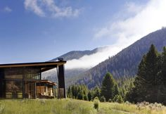 Situation. River Bank House, by Balance Associates Architects. Big Sky, Montana. #exterior