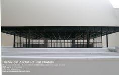 Mies van der Rohe New National Gallery, Berlin ( Neue Nationalgalerie) scale model 1:250