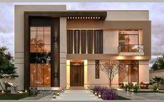 2 Storey House Design, Bungalow House Design, House Front Design, Small House Design, Village House Design, Village Houses, Best Modern House Design, Modern Villa Design, Modern Exterior House Designs