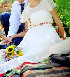traditional romanian wedding dress Wedding Themes, Wedding Dresses, Wedding Ideas, Romanian Wedding, Traditional Wedding, Tulle, Gowns, Costumes, Couples