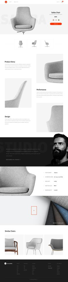 Minimal #website #design layout with great photography