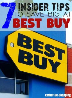 7 Awesome Insider Tips to Save Money at Best Buy - Finance tips, saving money, budgeting planner