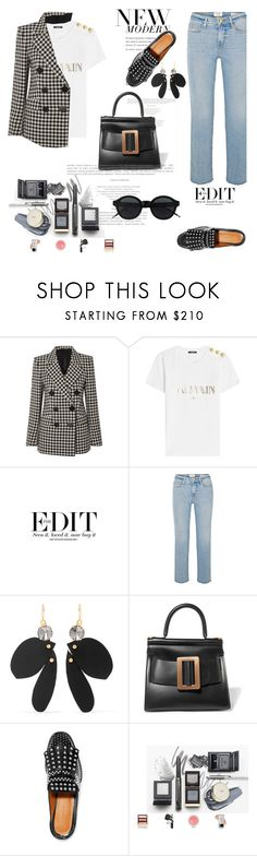 """My Mood Today"" by lidia-solymosi ❤ liked on Polyvore featuring Petar Petrov, Balmain, Amica, Alexander McQueen, Frame, Marni, Karl Lagerfeld and Robert Clergerie"
