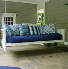 Porch swing...love this.