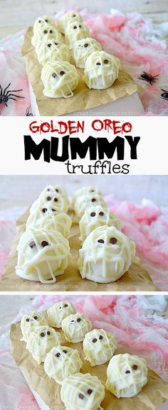 , candy, halloween treats, spooky treats, fun, truffles, cookie balls ...