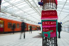 Crochet mailbox for collecting peoples dreams by Concreatives