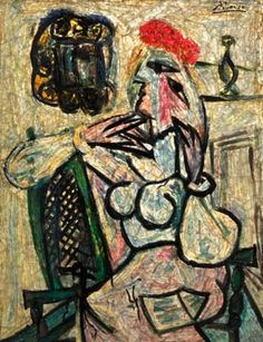 Pablo Picasso, Seated Woman with Red Hat. Image courtesy of the Evansville Museum of Arts, History & Science. Photo: Michael Wheatley.