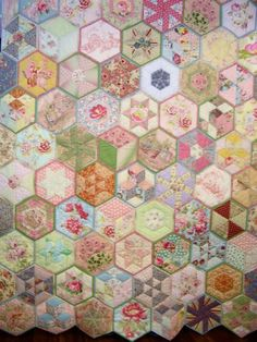 Quilt as you go hexagons