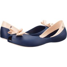 352caa8b6aa4 Melissa Shoes Queen (Navy Nude) Women s Flat Shoes ( 55) ❤ liked on  Polyvore featuring shoes