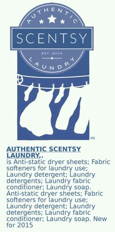 Scentsy's Line of Laundry Care now includes Fabric Care www.rosemariefantini.scentsy.us