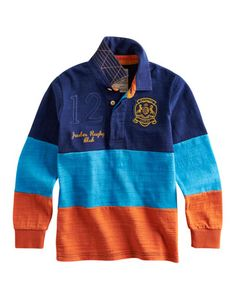 JNR MENACES Boys Long Sleeved Rugby Shirt (Joules USA 3-11y)