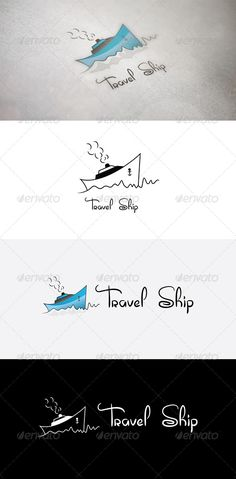 Travel Ship #GraphicRiver Logo representing Ship graphic with water waves. It could be use in multiple concepts like ship concepts, transportation, tour & travels agency etc. Logo shapes are pure vector with perfect lines and covers. Colour, reverse colour, black and white and invert versions are included. which are perfect for screen, digital or large format printing and also suitable for machine routine, cutting, engraving, etching, embossing and embroidery etc. The font used in the logo…