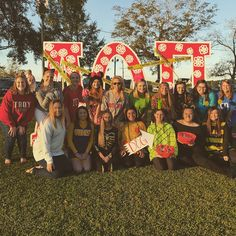 Troy University AOPi members at the 2017 Haunted Hill