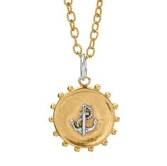 Your heart may always lie by the sea, but now you can anchor the sea close to your heart. Our sterling and brass Maritime charms feature classic nautical motifs for any whimsical seafarer, shell-seeker, or deep-diver, whether docked, moored, or adrift.