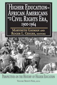 "Check out this rave review from The Historian!  ""These authors as a whole provide a fascinating collection that ponders higher education dynamics through the lens of race. . . . [The] broad range of topics tickles the palate and promises an exciting research agenda. This volume . . . serve[s] as a fine pedagogical tool."" -- Richard J. Altenbaugh"
