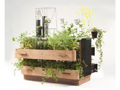 Da Morto A Orto by Peter Bottazzi and Denise Bonapace turn recycled furniture into planters. The series name translates to 'from redundant to abundant'. Recycled Planters, Garden Planters, Indoor Garden, Garden Art, Planter Pots, Herb Garden, Recycled Wood, Recycled Materials, Nachhaltiges Design