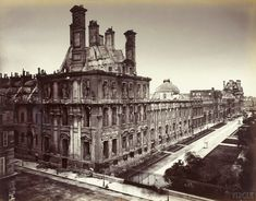Palace of the Tuileries shortly before its demolition in 1871. Photography by Alphonse Liébert.