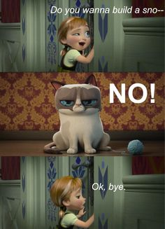 "Memedroid - ""Do you wanna build a snowman?"" by Ashluvsya sooooooooo sad"