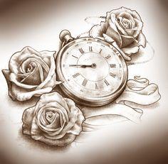 Clock Tattoo Ideas Design