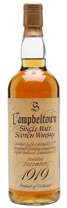 Campbeltown Springbank 1919: 50 year old single malt scotch whisky