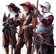 Thirty Years' War reenactors at the Wallersteiner Landsknechtstreffen, September 2006.