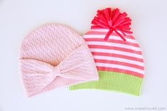 Hats from old sweaters.