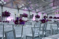 Clear top tent and 96 tables with high and low centerpieces at the National Museum of American Jewish History Opening Gala 2010 {Design: TableArt}