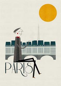 the art of Blanca Gomez - travel + mid-century illustration = fabulous!