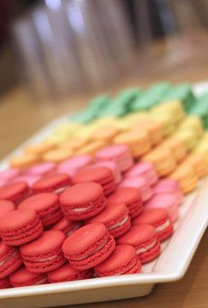 Brides: All Things Rainbow   Wedding Style   Wedding Ideas   Brides.com    rainbow macaroons    #wedding