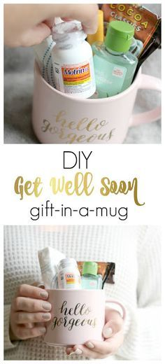 This DIY Get Well Soon Gift in a Jar (Mug) is the perfect pick me up for anyone suffering the sniffles this season! #AD #WinOverWinter