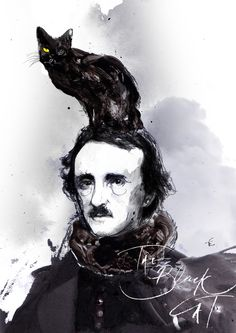 Edgar Allan Poe - The Black Cat by Zé Otavio, via Behance
