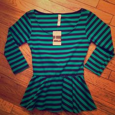 Brand New, Super Cute Waisted Top Brand New with tags! Super fun, great for going out! Striped and waisted top. Perfect condition! Playa Tops