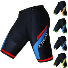 PQXOER-SP Bicycle Shorts Mens Off Road MTB Cycling Shorts Loose-Fit Rainproof With Gel Padded Bike Underwear Shorts Color : Blue, Size : S