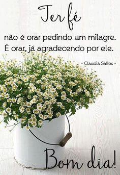 pail of flowers (ourmim) Good Afternoon, Good Morning Good Night, Faith In Love, Peace And Love, Motivational Phrases, Inspirational Quotes, Daily Bible Inspiration, Portuguese Quotes, Peace Love And Understanding