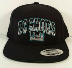 DC Shoes Hat Classic Black Turquoise Bad Arizona Baseball Cap Snapback OSFA in Clothing, Shoes & Accessories | eBay