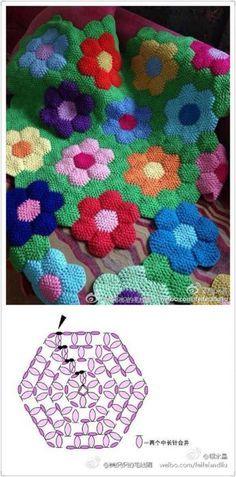Crochet Flowers Crochetafghan
