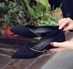 2017 Spring Sexy V Velvet Flats Women Pointed Toe Shoes Spring Shallow Mouth Casual Shoes -inWomen's Flats from Shoes on Aliexpress.com | Alibaba Group