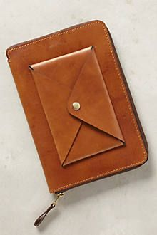 Stitched leather iPad case from anthropology