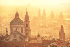 Prague - city of hundred spires in the soft light of sunrise Prague Photography, Sunrise Photography, Photography Tours, Prague Architecture, Prague Photos, New Zealand Tours, Prague City, Visit Prague, Heart Of Europe