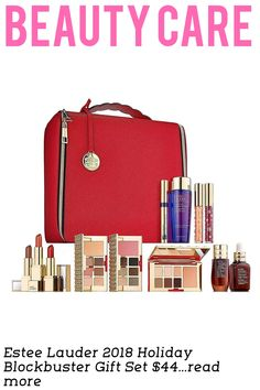 Include: Advanced Night Repair Synchronized Recovery Complex II 1 oz Advanced Night Repair Eye Concentrate Matrix Synchronized Recovery 0.5 oz 3 Pure Color Envy Face + Eye Palettes (18 eye shadow shades, 3 blushes) Sumptuous Extreme Lash Multiplying Volume Mascara (FullSize) in Extreme Black Red Train Case with Hanging Carousel Charm WARM COLLECTION ALSO INCLUDES: 3 FullSize Face + Eye Palette...