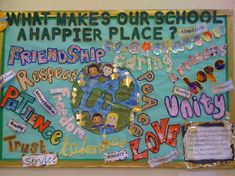School a happier place Display classroom display class display Ourselves school a happier place friend Early Years (EYFS) Primary Resources Ks2 Classroom, Primary Classroom, Classroom Design, Year 6 Classroom, Classroom Ideas, Classroom Displays Eyfs, Classroom Organisation Primary, Classroom Rules Display, English Classroom Displays
