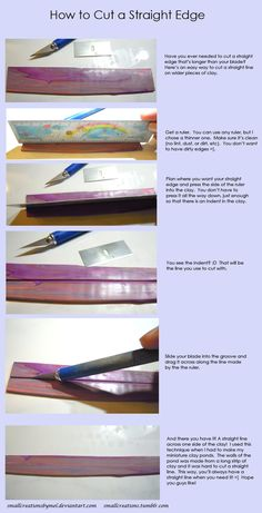 How to cut a strait edge ... Fun Tip Friday #27 by *SmallCreationsByMel on deviantART