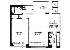 Hi Robin, I need you to help me with a visual of the floorplan.  I have noted possible slider doors at the Living Room, and Bedroom, please confirm.  Also It looks like there could be a window in the kitchen, is there?  I did not see anything in the Dining Alcove, is this correct?