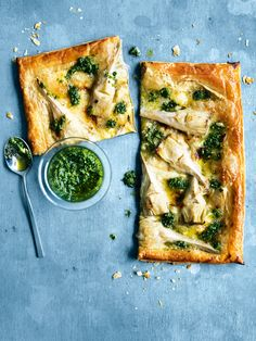 artichoke, pesto and brie tarts from donna hay magazine issue 80 autumn 2015