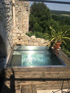 Small Backyard Pools, Small Pools, Swimming Pools Backyard, Pool Decks, Kleiner Pool Design, Stock Tank Pool, Mini Pool, Small Outdoor Spaces, Garden Tub