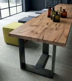 Rectangular wooden living room table Arts by @pedinicucine