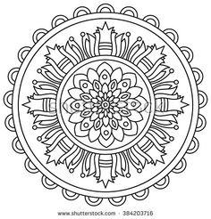 coloring-page-mandala-Acorn-and-Oak-Leaves-mandala-to-by