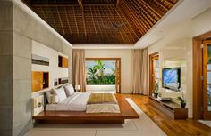 modern architecture - the istana - uluwatu - bali - guest suite three - interior view - bedroom