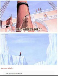 Just in case you were wondering how bad Zoro's sense of direction is xD